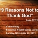 9 Reasons Not to Thank God