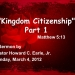 Kingdom Citizenship Part 1