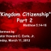 Kingdom Citizenship Part 2