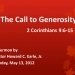 The Call to Generosity