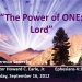 The Power of ONE: Lord