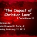 The Impact of Christian Love